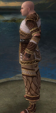 Monk Elite Canthan Armor M gray side
