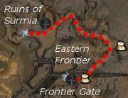 Ruins of Surmia (quest) map