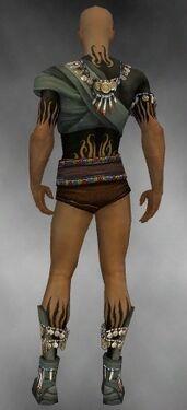 Ritualist Luxon Armor M gray chest feet back