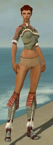 File:Ranger Elite Canthan Armor F gray chest feet front.jpg