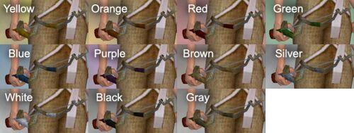 Spiral Rod Dye Chart