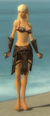 Ritualist Monument Armor F gray arms legs front