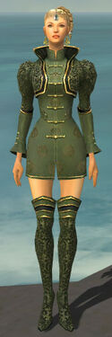 Mesmer Canthan Armor F gray chest feet front