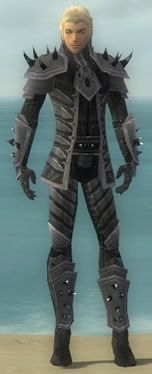Elementalist Obsidian Armor M gray front