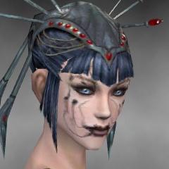 File:Necromancer Ancient Armor Female Headgear black side.jpg