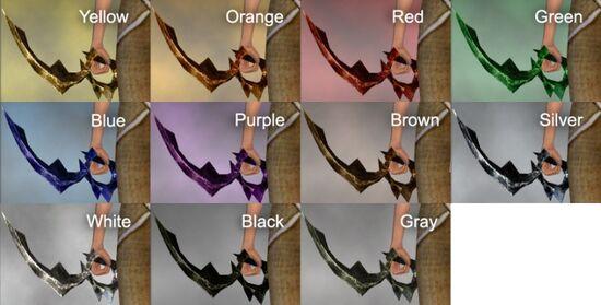 Greater Dark Scimitar Dye Chart