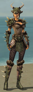 Warrior Elite Charr Hide Armor F gray front