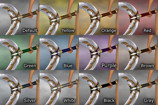 Dual Winged Axe dye chart