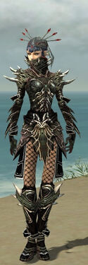 Necromancer Elite Luxon Armor F gray front