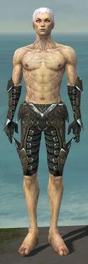Necromancer Profane Armor M gray arms legs front