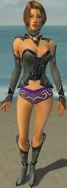 Mesmer Obsidian Armor F gray chest feet front