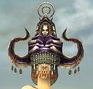 Ritualist Obsidian Armor F gray head front