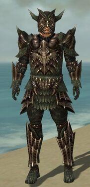 Warrior Elite Dragon Armor M gray front