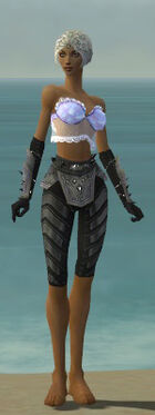 Elementalist Obsidian Armor F gray arms legs front