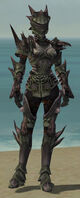 Warrior Primeval Armor F gray front