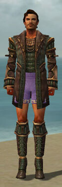 Mesmer Ancient Armor M gray chest feet front