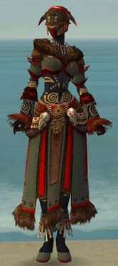 Ritualist Norn Armor F gray front