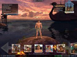 Nightfall character selection screen