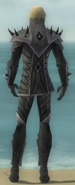 Elementalist Obsidian Armor M gray back