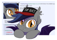 407725 safe oc cute -mlp- bat pony artist-colon-equestria-dash-prevails echo top gun top bat