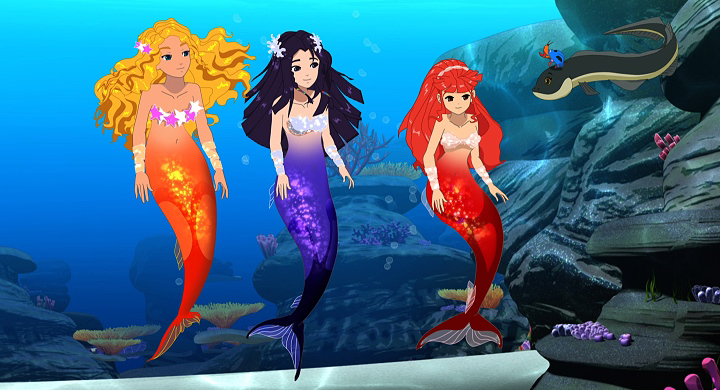 Image animated mermaids h2o just add for Just add water series
