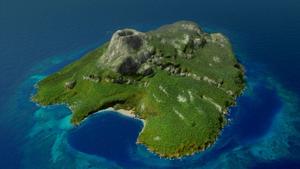 Mako Island Aerial View