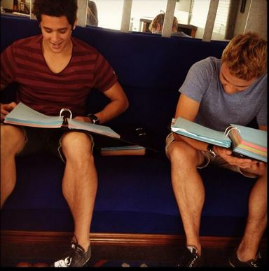 File:Zac and Cam studying.JPG