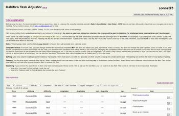 Task Adjustor Screenshot