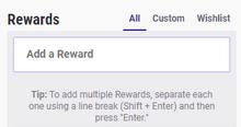 Rewards Section