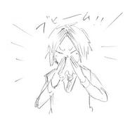 Kenma Sneezing