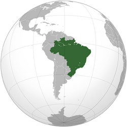 Brazil (orthographic projection)