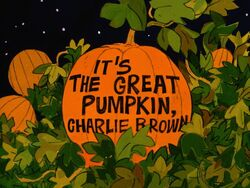 Great pumpkin charlie brown title card