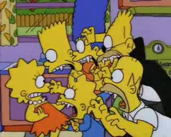 The Simpsons - Vampire Family Attacks Lisa