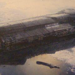 Die UNSC Infinity, das Nachkriegs-Flaggschiff des UNSC's und das erste Schiff mit Blutsväter Technology.
