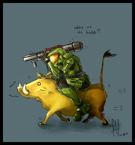 File:Halo Master Chief vs Warthog by Aucifiel.jpg