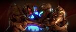 Halo 5 Guardians Chief VS Locke 1