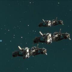 军刀战斗机编队飞行。