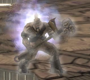 Tartarus with his energy shield