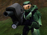 Master Chief Points Gun