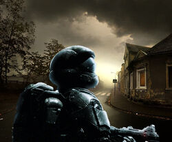 ODST against lonely street