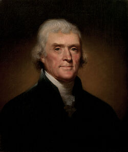 Thomas Jefferson presidential portrait