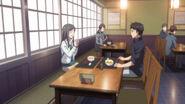 Totu and Minko in restaurant
