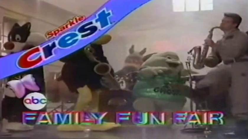 1980s commercial Crest Sparkle presnts , The ABC Family Fun Fair