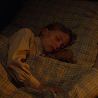 Mary sleeps.