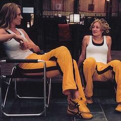 On the set of Kill Bill.