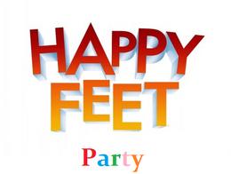 Happy Feet Party Logo