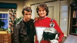Mork from Ork and Fonzie Happy Days