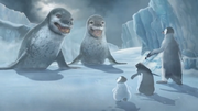 Happy Feet Two Video Game - Leopard Seals, Mumble, Ramon and Erik cutscene