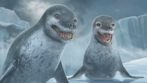 Happy Feet Two Video Game - Leopard Seals cutscene