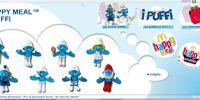 The Smurfs stuffed toys (McDonald's, 2011)